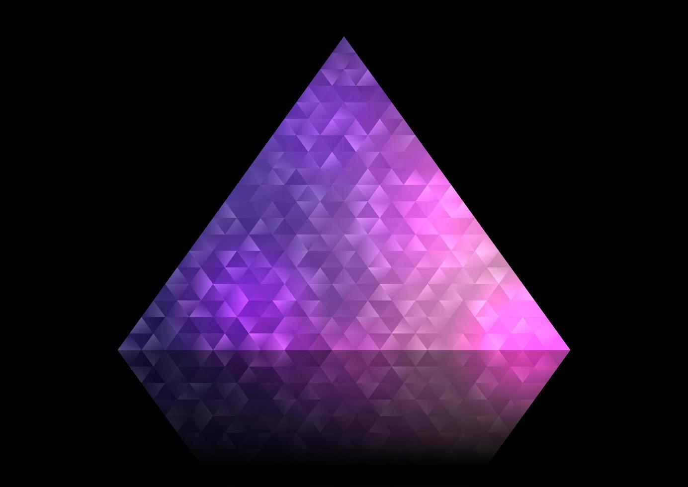 conception de triangle abstrait low poly vecteur
