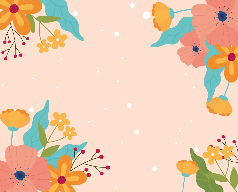 fond de bannière floral mignon vecteur