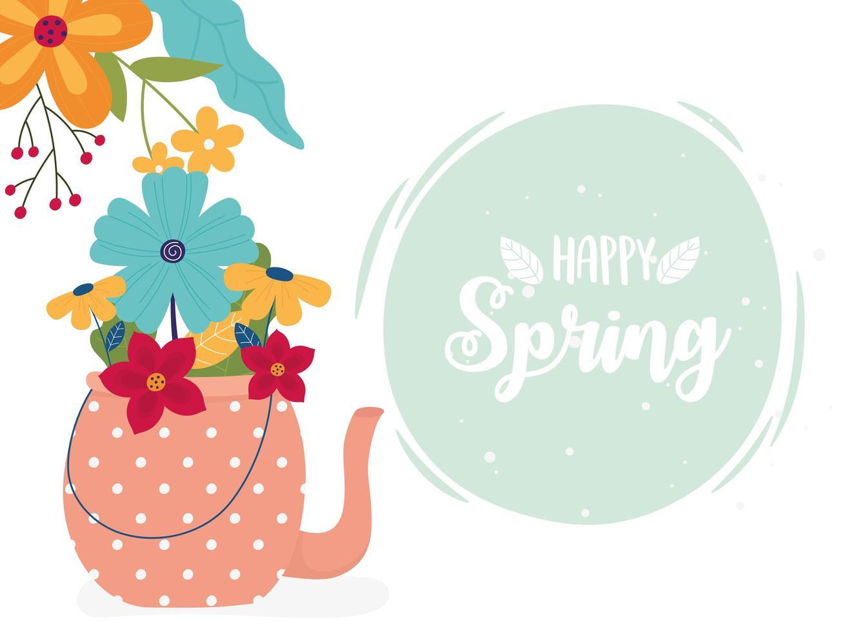 bannière de célébration de printemps heureux vecteur