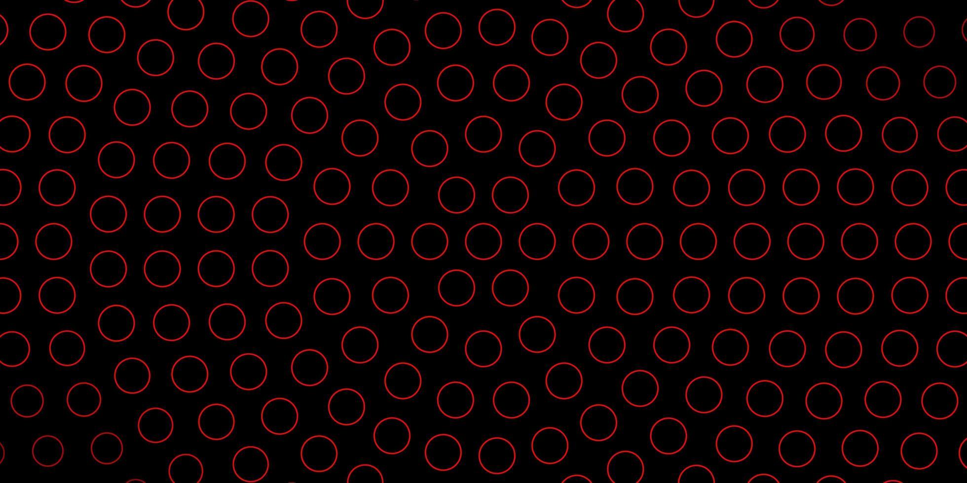 fond sombre avec des cercles rouges. vecteur