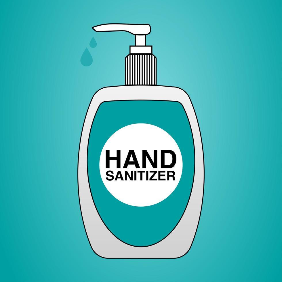 bouteille de désinfectant pour les mains vecteur