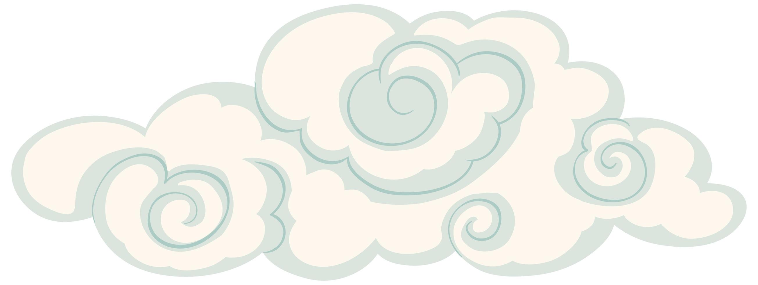 nuage isolé dans un style chinois vecteur