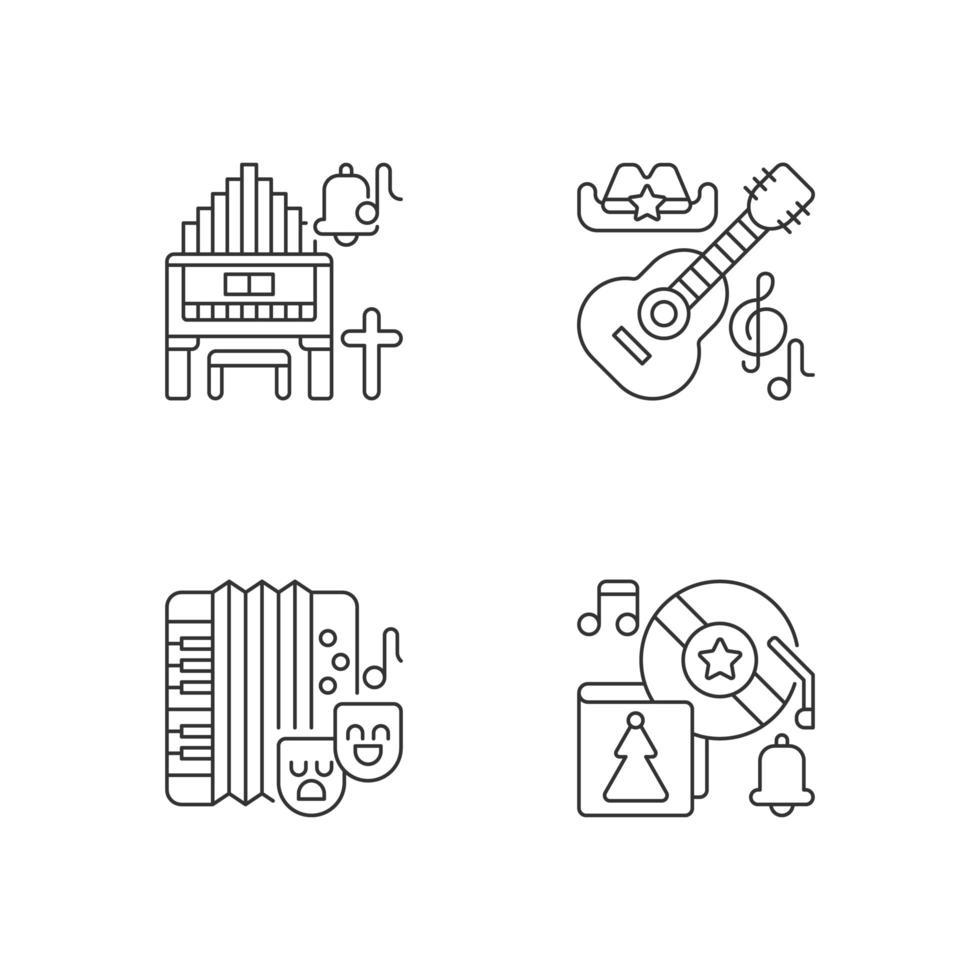 musique de différentes cultures, jeu d'icônes vecteur