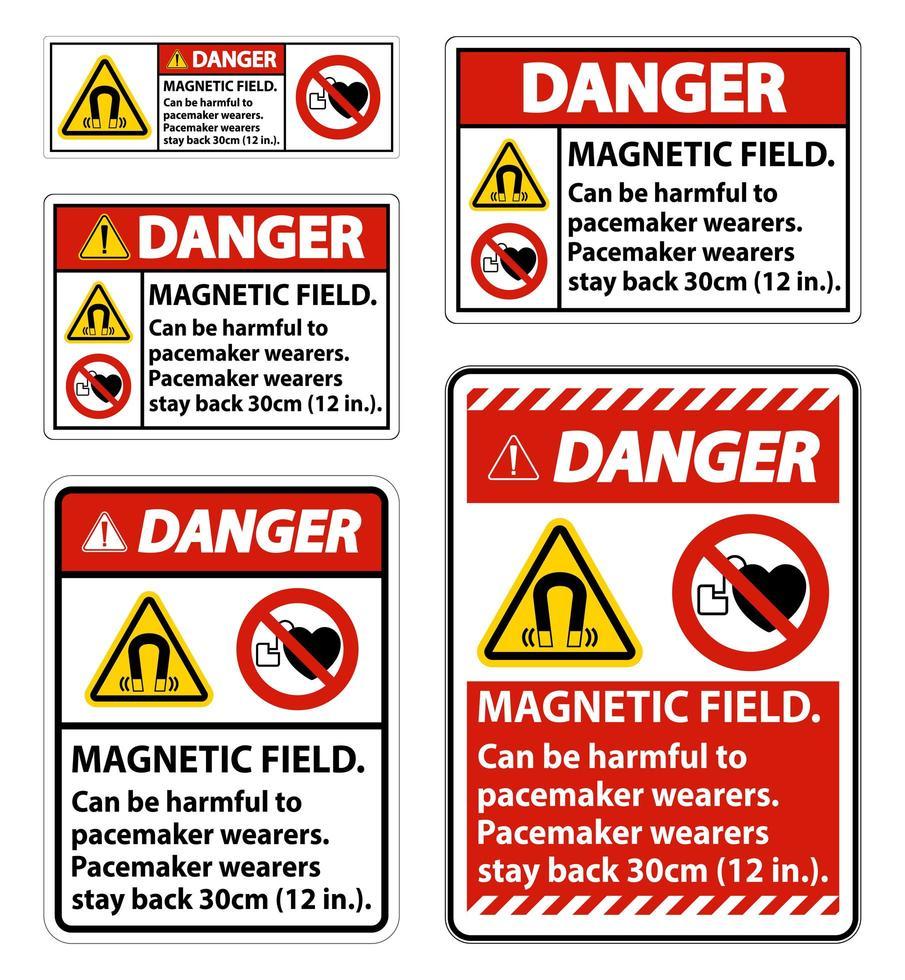 les champs magnétiques peuvent être un ensemble de signes nocifs vecteur