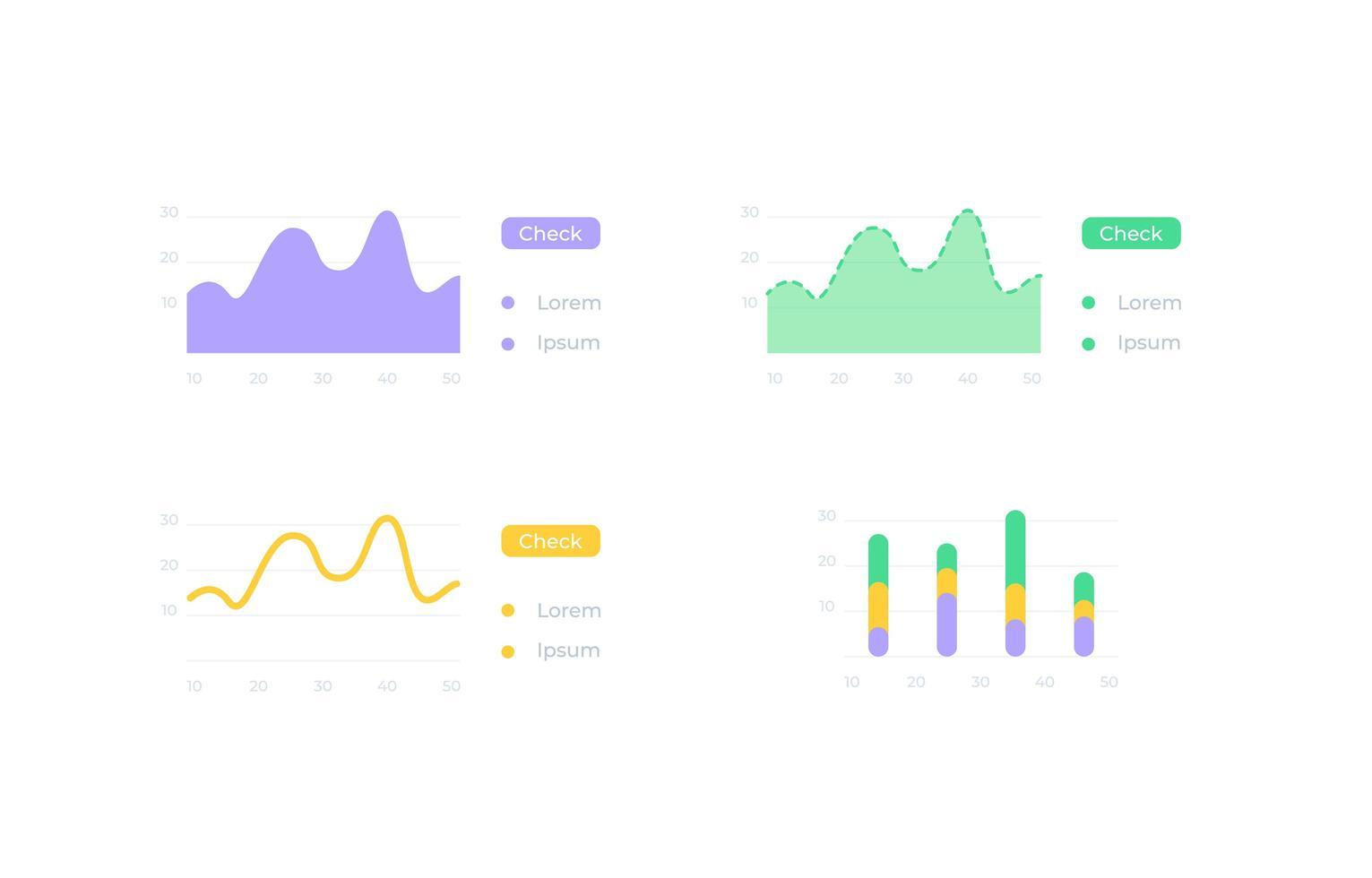 kit d'éléments d'interface utilisateur de présentation d'informations vecteur