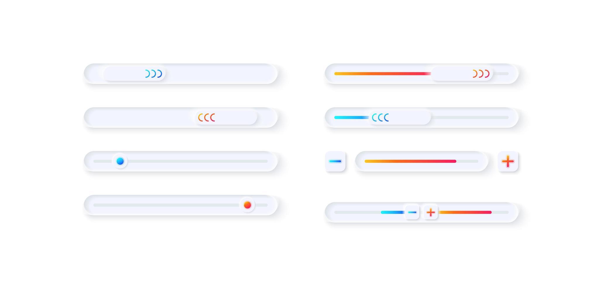 kit d'éléments d'interface utilisateur de réglage du joueur vecteur