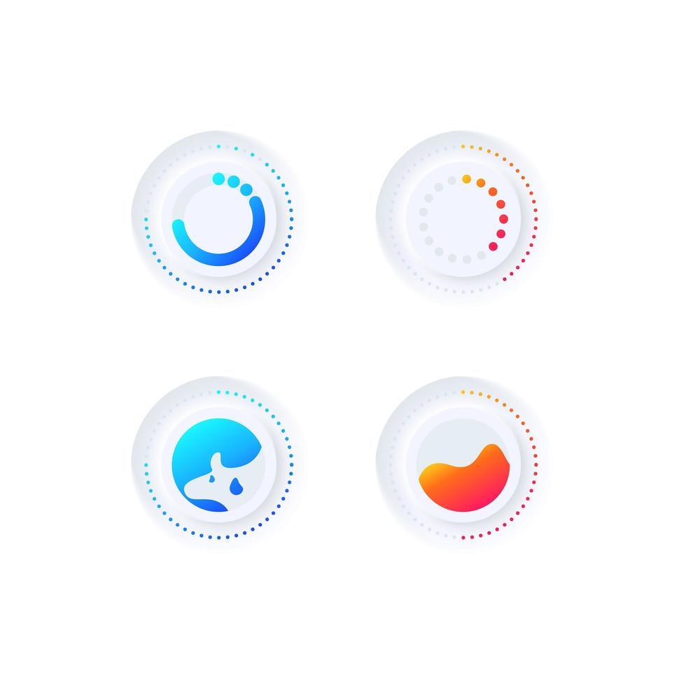 kit d'éléments d'interface utilisateur pour chargeur multimédia vecteur