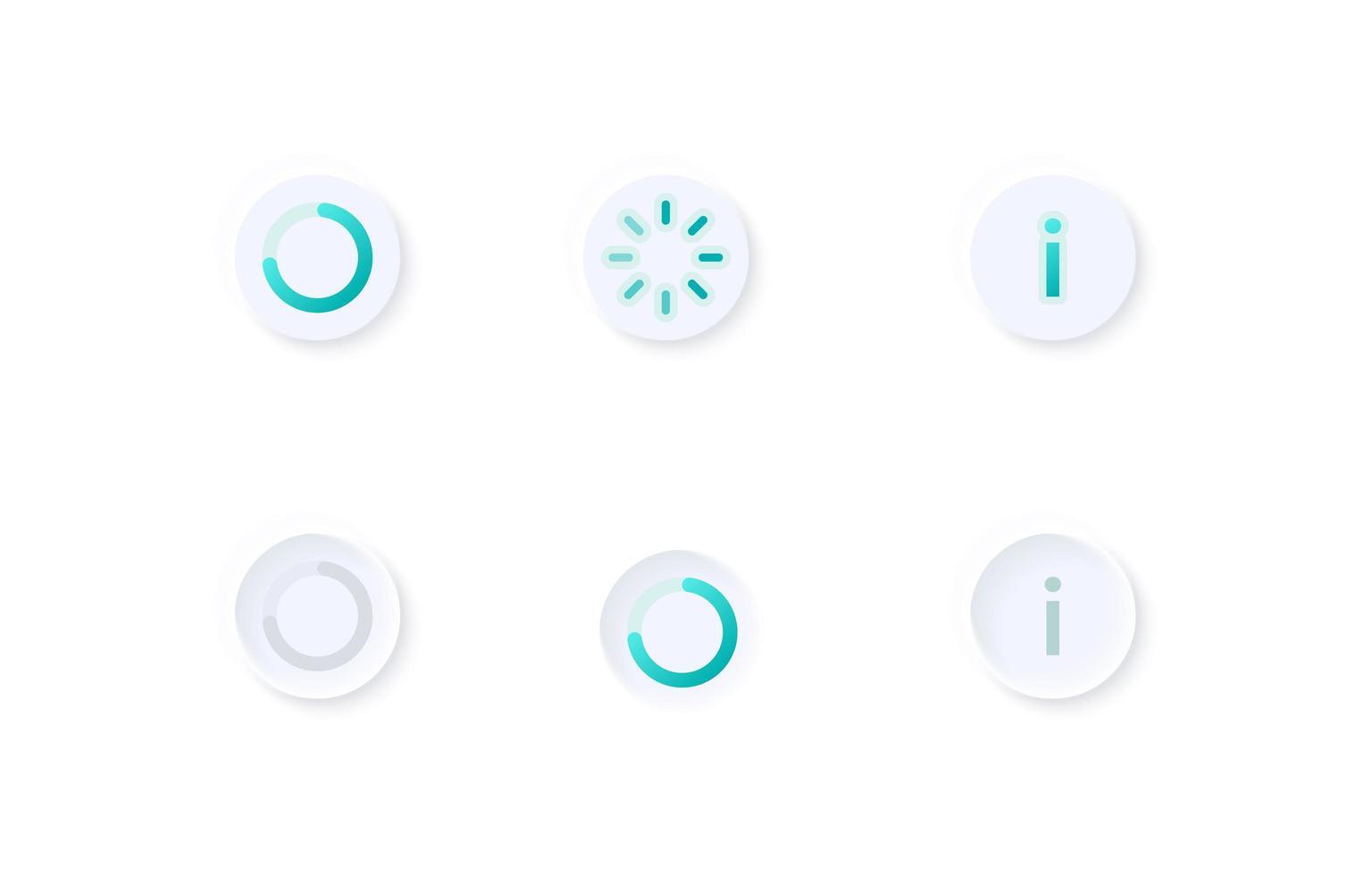 kit d'éléments d'interface utilisateur de cercles de progrès vecteur