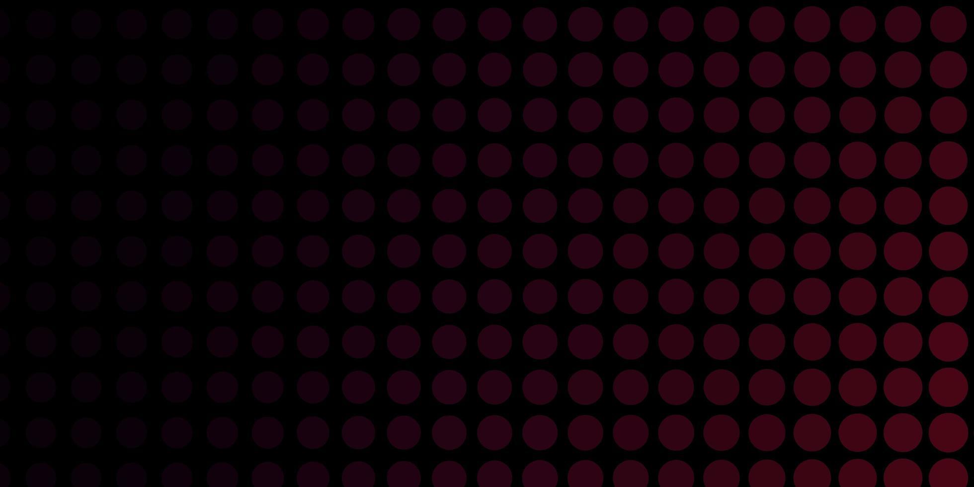 toile de fond rouge foncé avec des cercles. vecteur