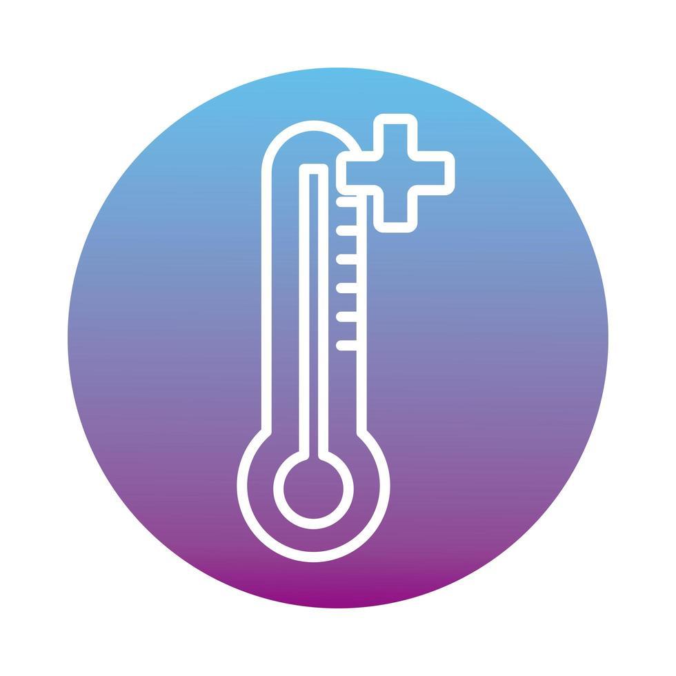 conception d'icône de thermomètre vecteur