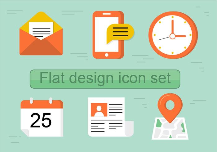 Icon Set Vector Flat gratuit