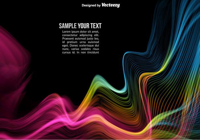 Waves abstrait coloré vecteur
