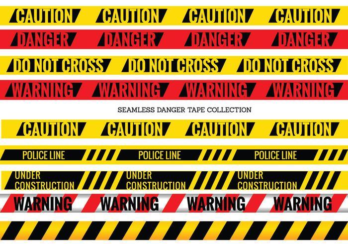 Set de danger sans soudure et bandes Attention vecteur