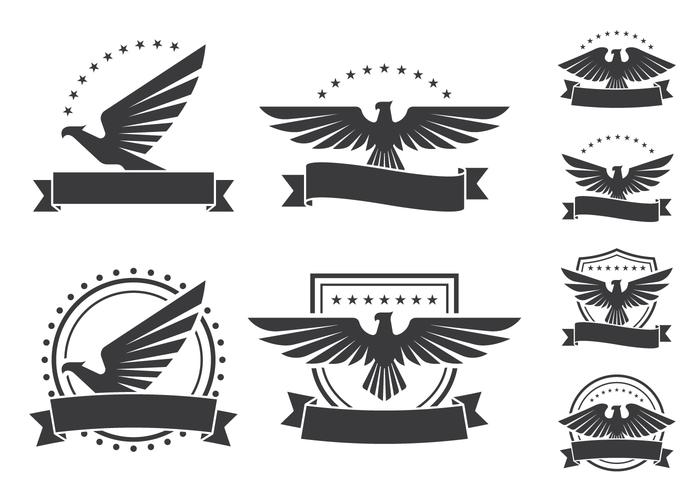 Eagle Emblèmes icônes Bouclier vecteur
