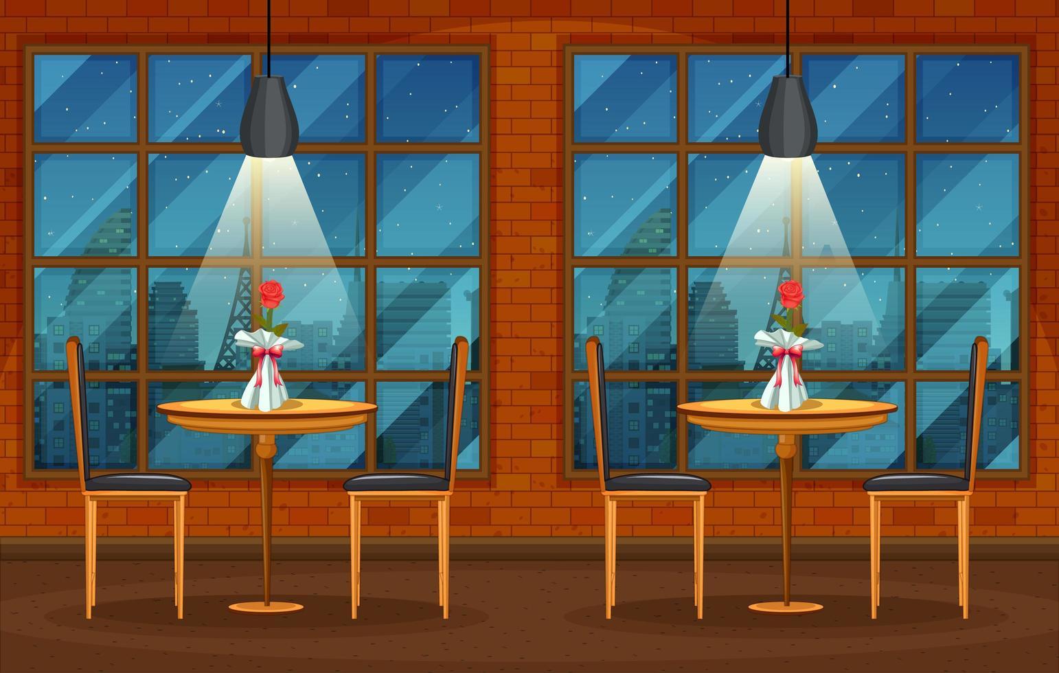 scène de fond de pub et restaurant vecteur