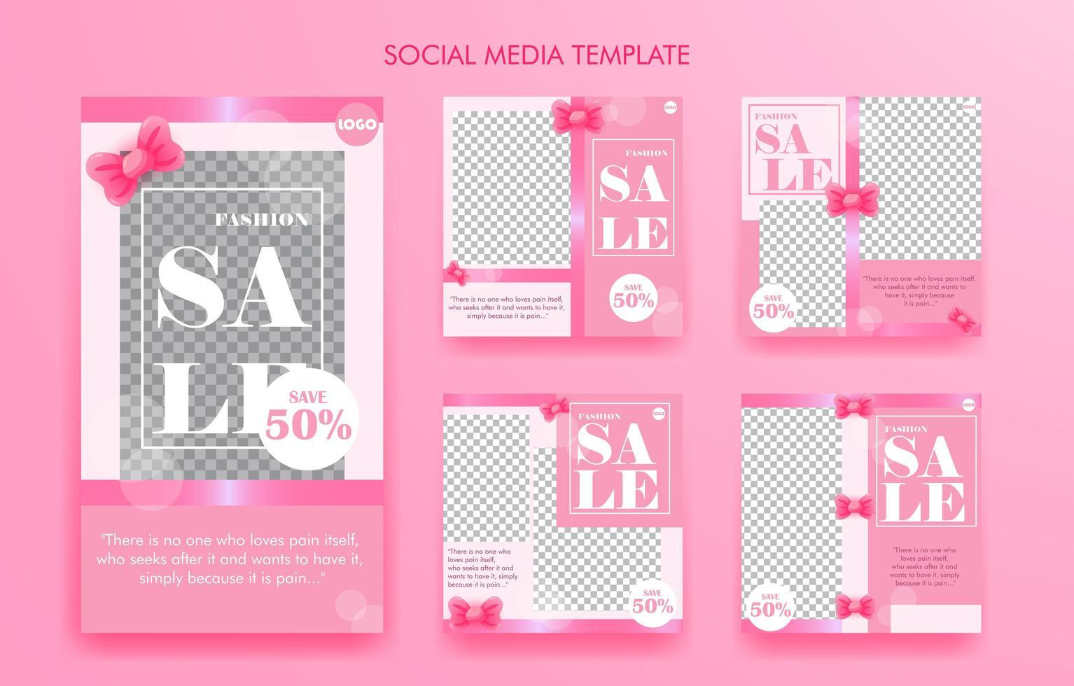 modèle ou affiche de médias sociaux vecteur