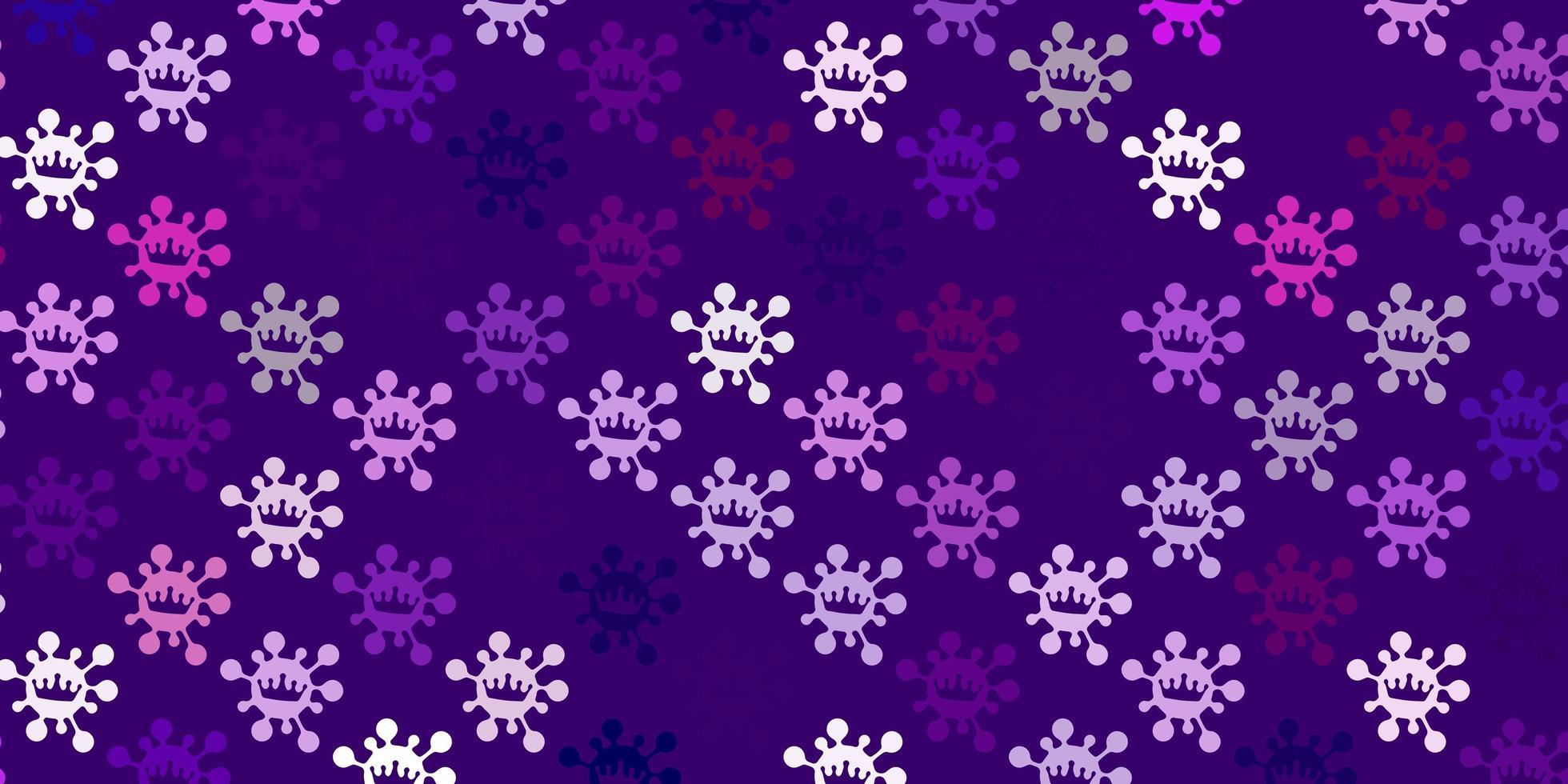 modèle violet avec des signes de grippe. vecteur