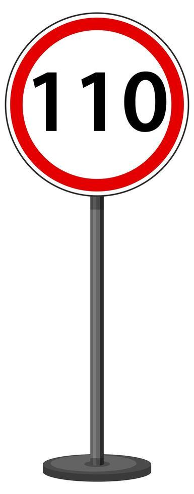 panneau de signalisation rouge sur fond blanc vecteur