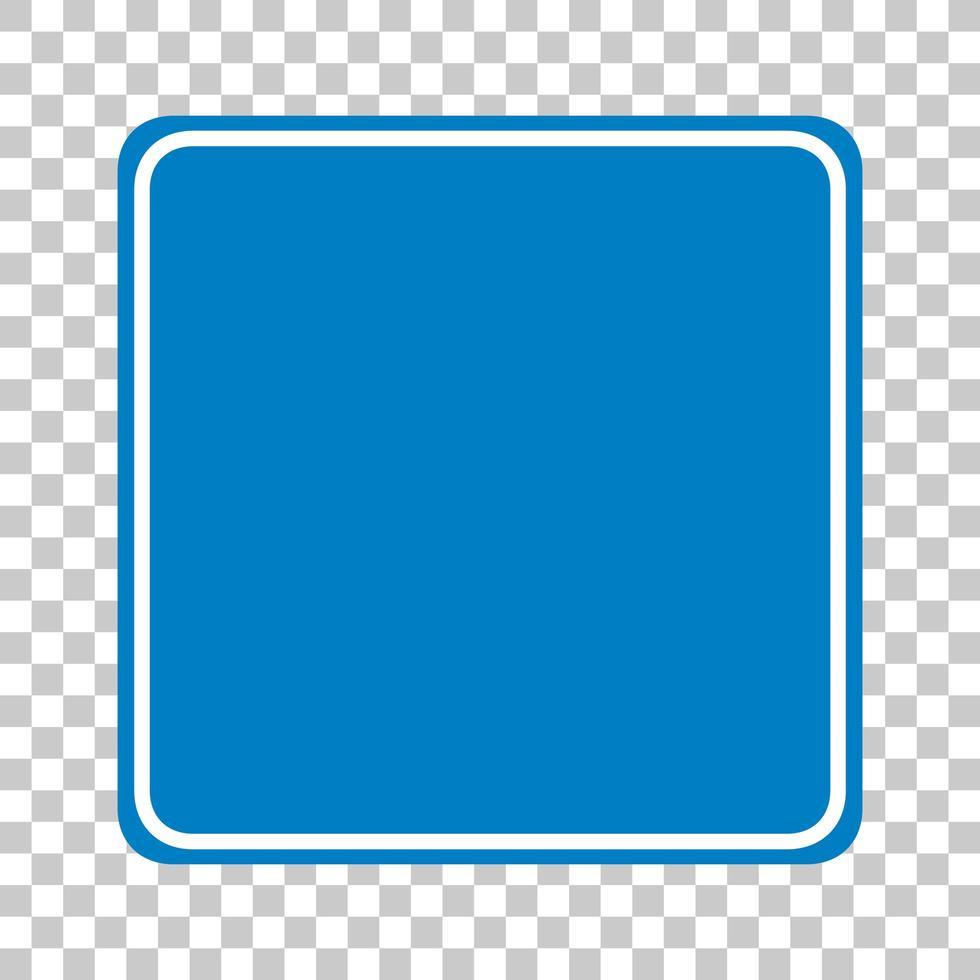 panneau de signalisation bleu sur fond transparent vecteur
