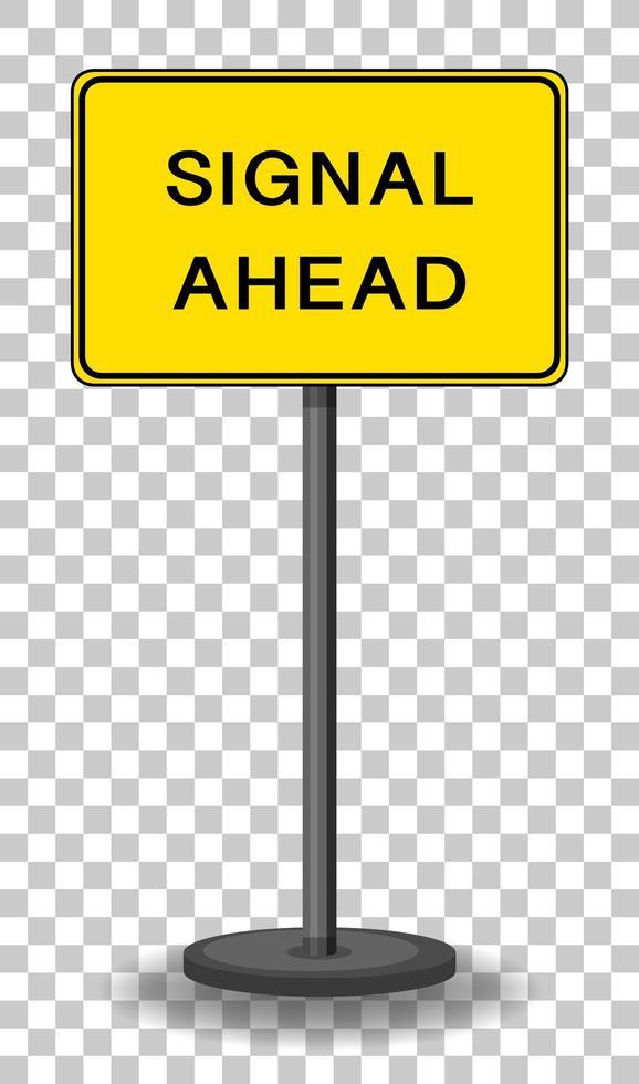 Signal avant signe isolé sur fond transparent vecteur