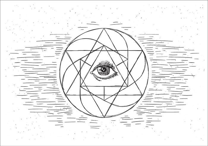 Illustration libre géométrie sacrée vecteur