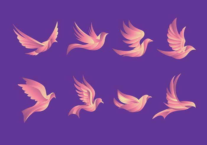 Dove Pigeon belle illustration de vol vecteur