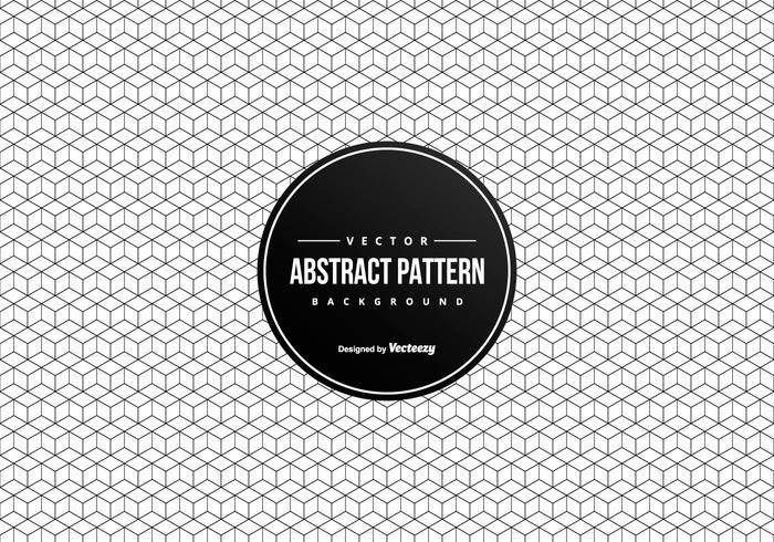 Arrière-plan abstrait géométrique Carrés 3D Pattern vecteur
