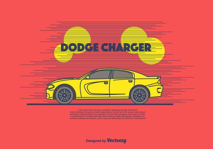 Dodge Charger fond vecteur