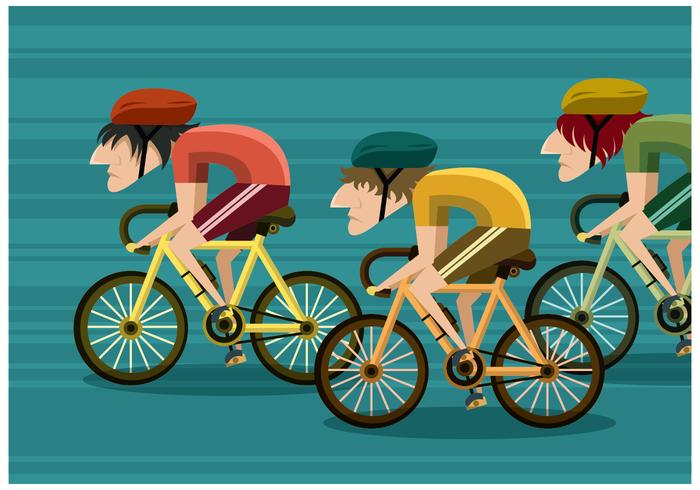 Vecteur de course de vélos