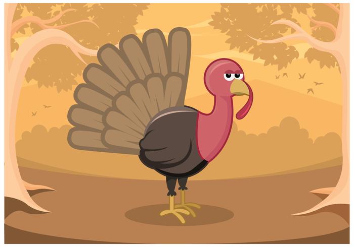 Turquie libre sauvage vecteur dans la forêt