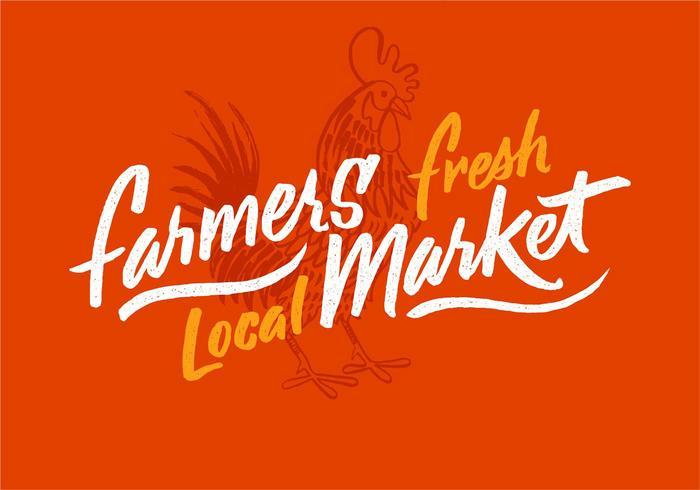 Coq Farmers Market Design vecteur