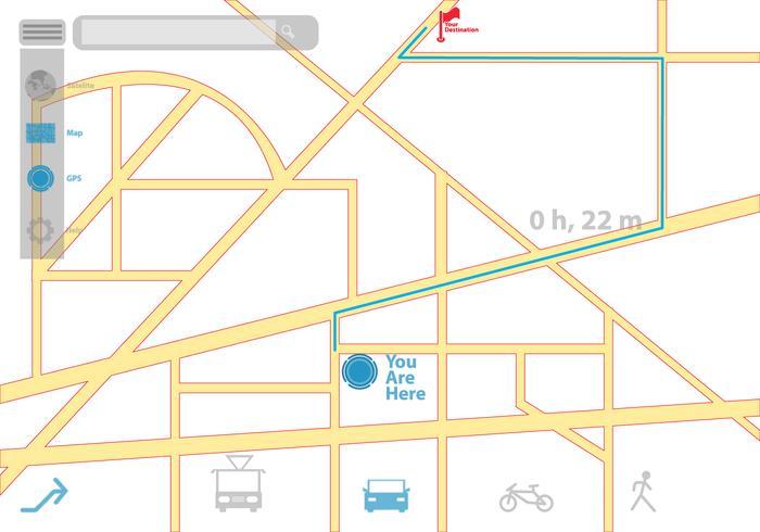 Apparence GPS et icônes vecteur