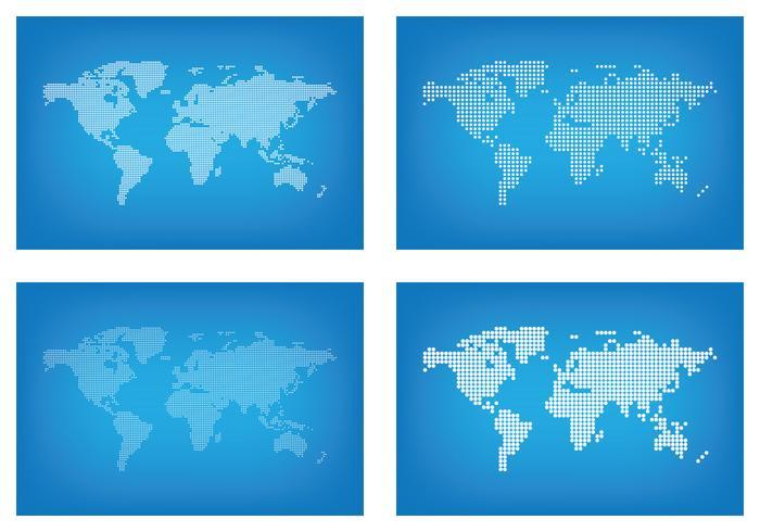 Points graphique Carte du monde vecteur
