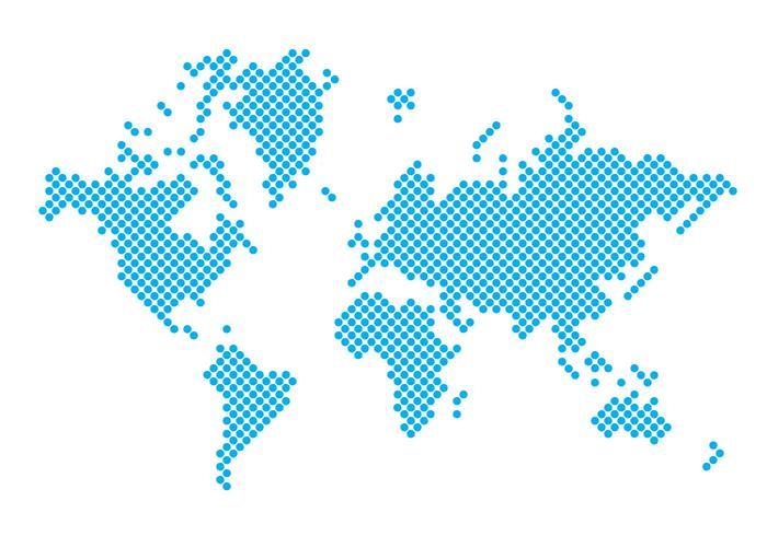 Dotted Carte du monde vecteur