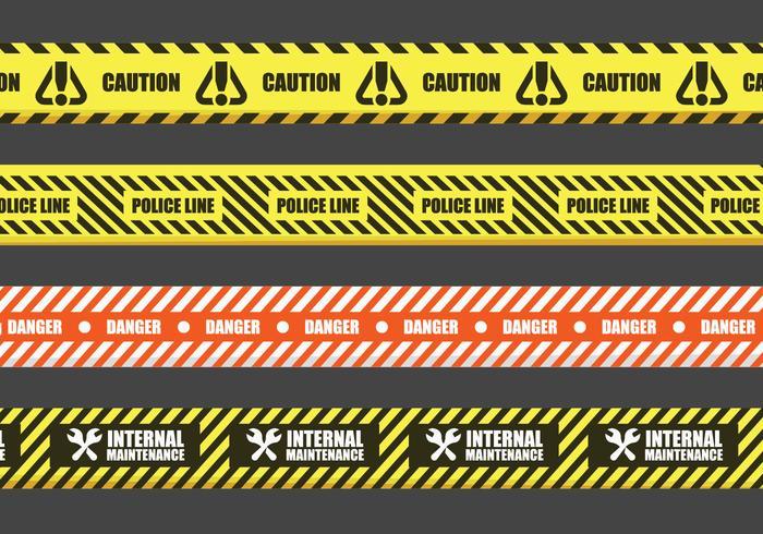 Signes vecteur bande de danger