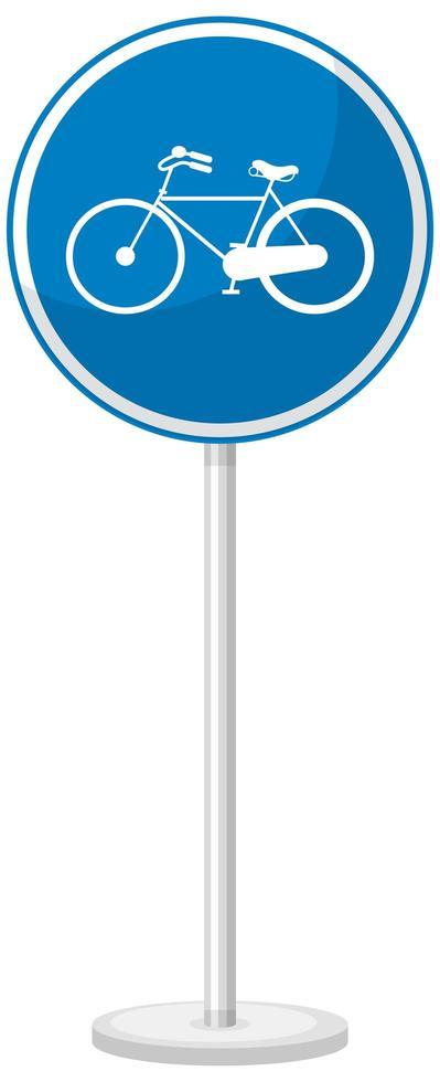 panneau de signalisation bleu sur fond blanc vecteur