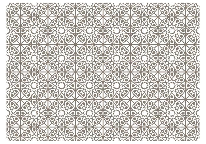 Motif gris vecteur islamique