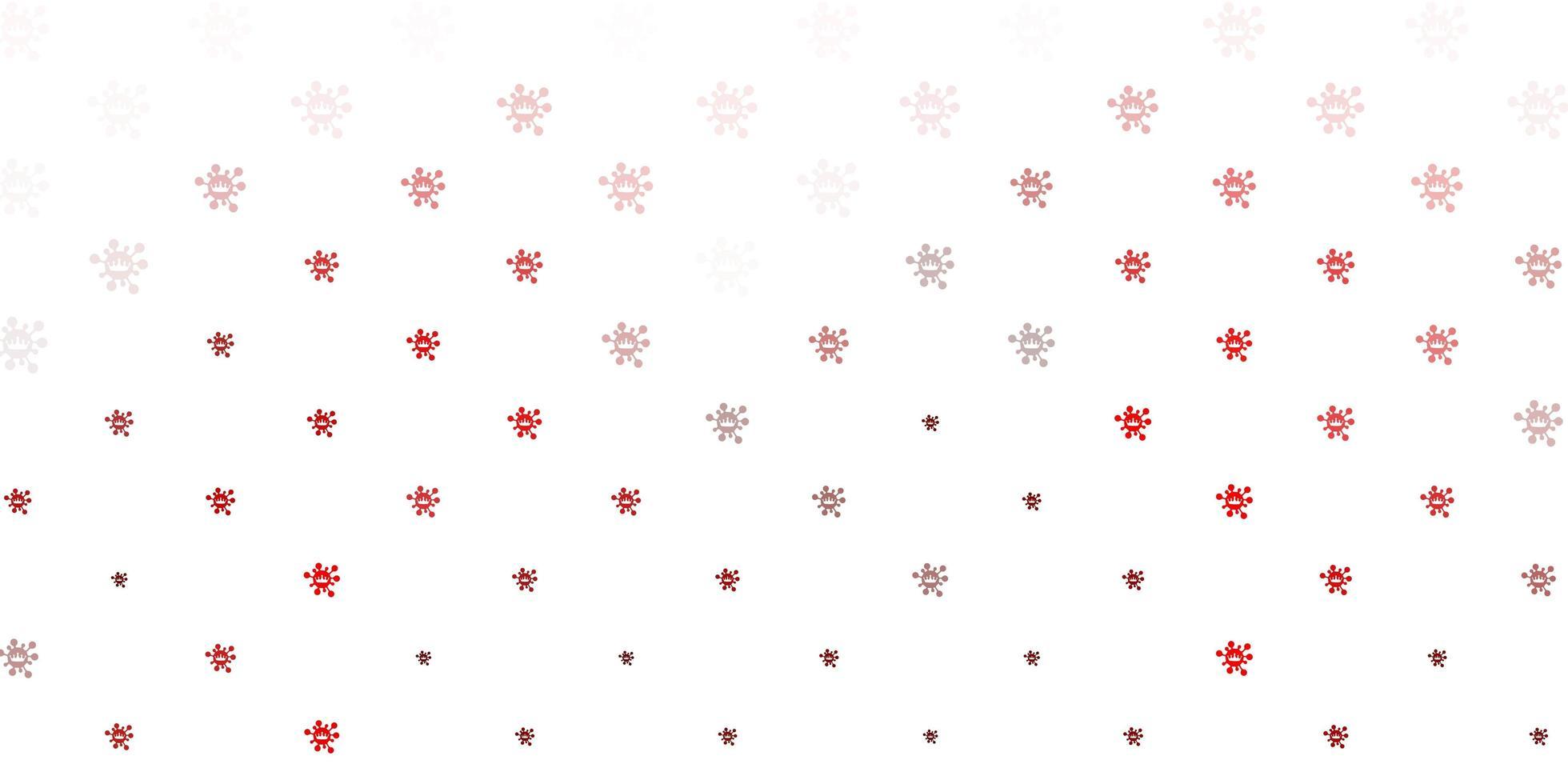 symboles de virus rouges sur fond blanc vecteur