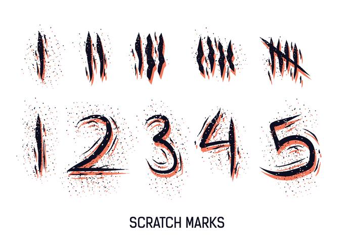 Scratch Vector Marks Numéroté