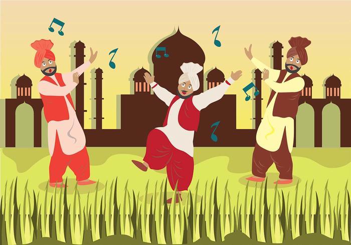 Bhangra Dance à Savana vecteur