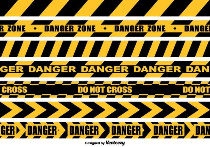 Vector Seamless Danger Tape Collection