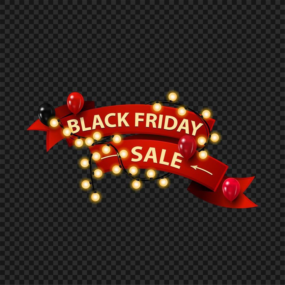 bannière web de lumières de vente vendredi noir vecteur