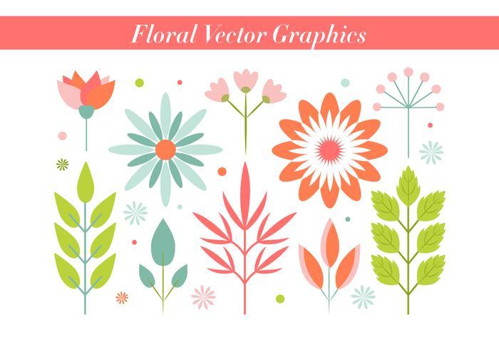 Vintage Background Vecteur Fleurs libre