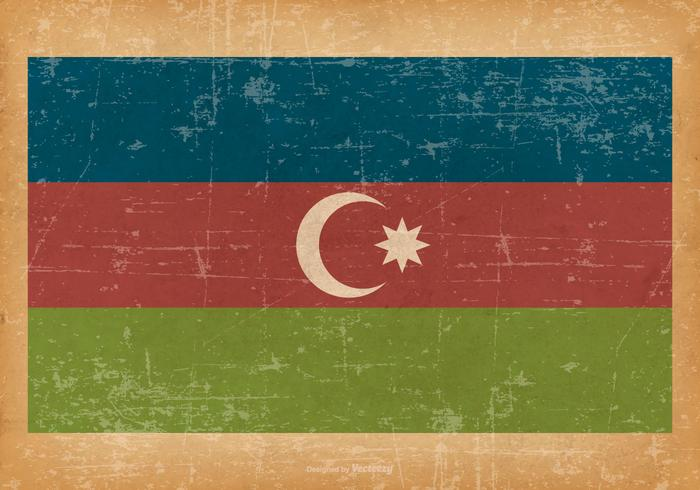 Drapeau de l'Azerbaïdjan sur fond grunge vecteur