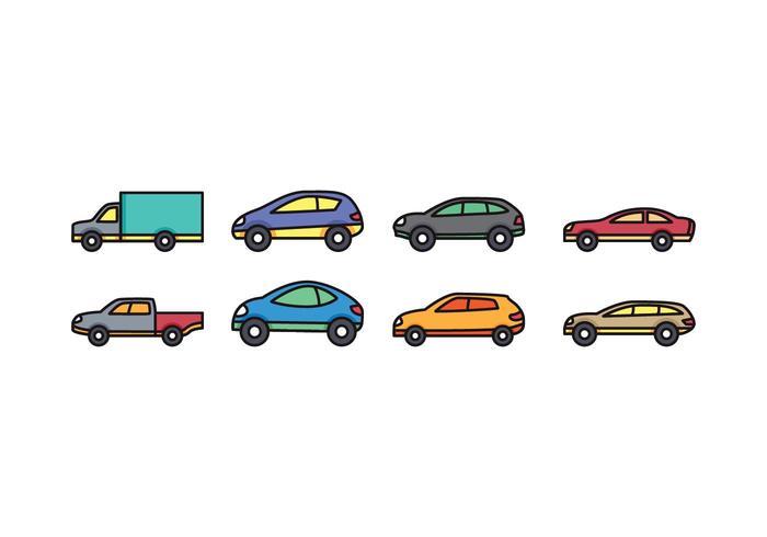 Icon Set voiture vecteur