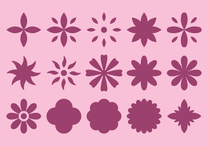 Fleur Fleur Icône vecteur