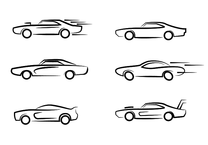 Dodge Charger Logo Outline Vector