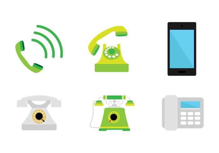 Vert Téléphone Icône vecteur