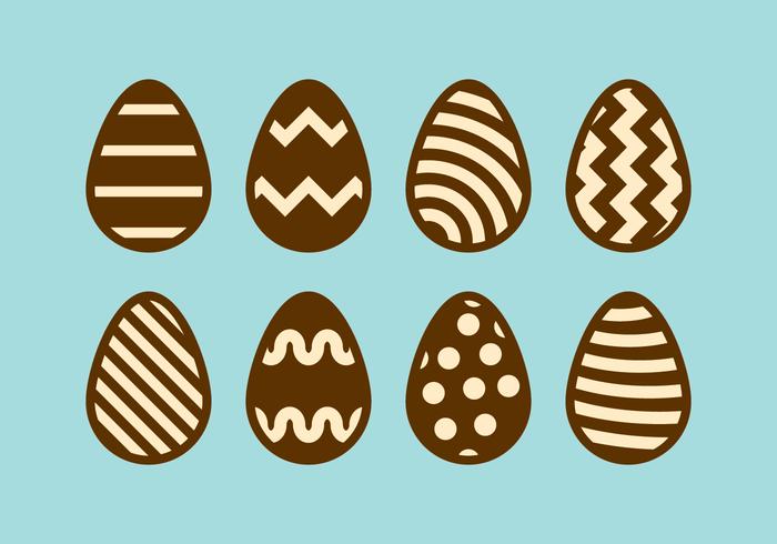 Oeufs de Pâques au chocolat vecteur