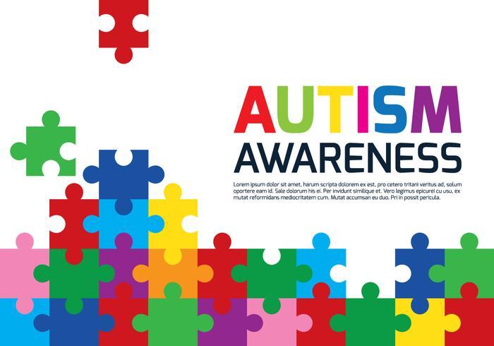 Autisme Puzzle Poster vecteur